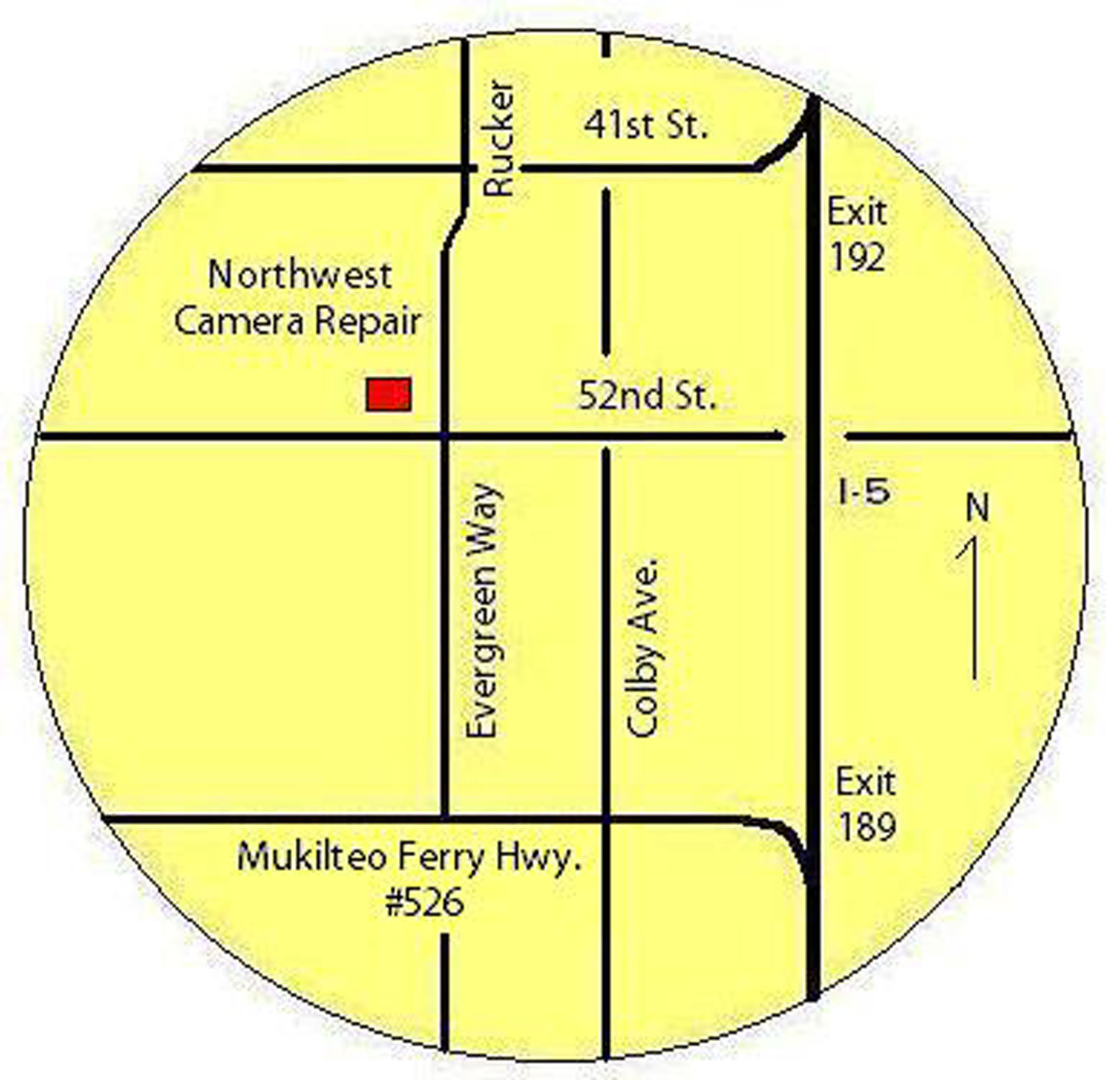 Map of Northwest Camera Repair's location.
